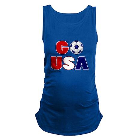 Go USA Soccer Maternity Tank Top