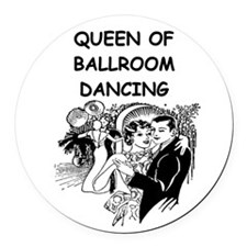 DANCING1B Round Car Magnet