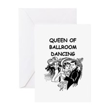 DANCING1B Greeting Cards