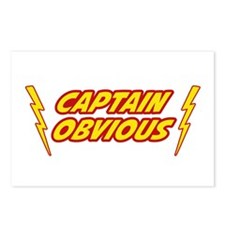 Captain Obvious Superhero Postcards (Package of 8)