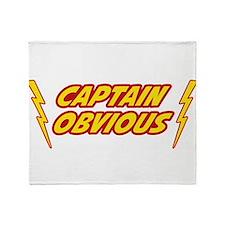 Captain Obvious Superhero Throw Blanket