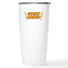 Captain Obvious Superhero Travel Mug