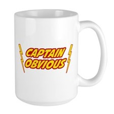 Captain Obvious Superhero Mugs
