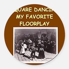 DANCING3 Round Car Magnet