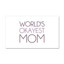 Worlds Okayest Mom Car Magnet 20 x 12