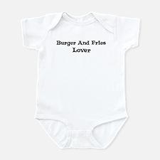 Burger And Fries lover Infant Bodysuit
