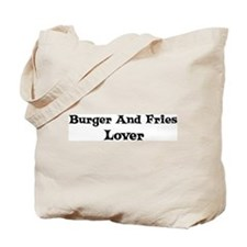 Burger And Fries lover Tote Bag