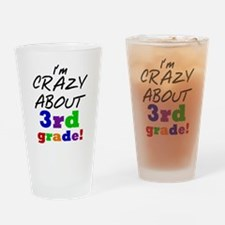 Crazy About 3rd Grade Drinking Glass