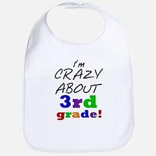 Crazy About 3rd Grade Bib