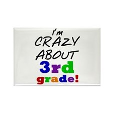 Crazy About 3rd Grade Rectangle Magnet