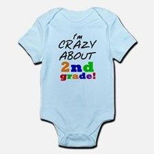 Crazy About 2nd Grade Infant Bodysuit