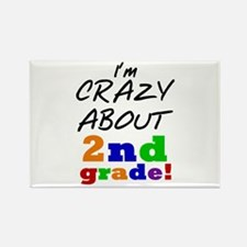 Crazy About 2nd Grade Rectangle Magnet