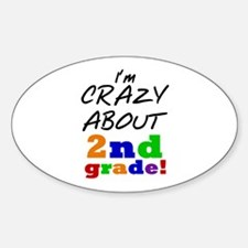 Crazy About 2nd Grade Decal