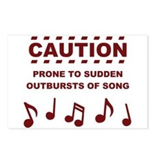 Caution Prone to Sudden Outbursts of Song Postcard