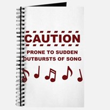 Caution Prone to Sudden Outbursts of Song Journal