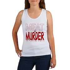 MEAT IS MURDER (BLOODY) Women's Tank Top