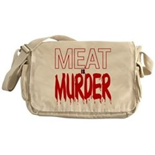 MEAT IS MURDER (BLOODY) Messenger Bag