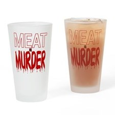 MEAT IS MURDER (BLOODY) Drinking Glass
