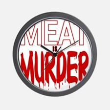 MEAT IS MURDER (BLOODY) Wall Clock