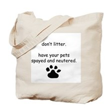 Spay and Neuter Tote Bag