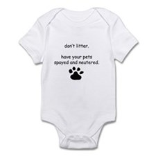 Spay and Neuter Infant Bodysuit