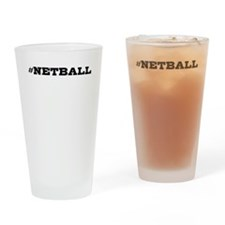 Netball Hashtag Drinking Glass