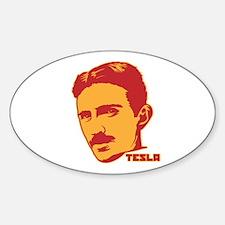 Nikola Tesla Oval Decal