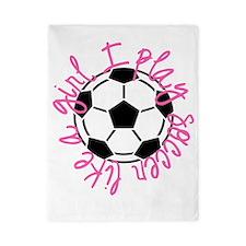 I play soccer like a girl Twin Duvet
