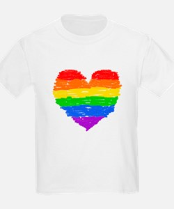 rainbow heart 3 T-Shirt