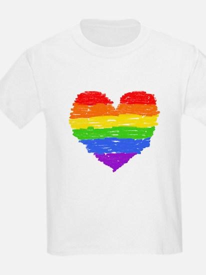 rainbow heart 3 T-Shirt
