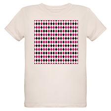 Pink Black and White Diamonds T-Shirt