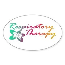 Respiratory Therapy Oval Decal