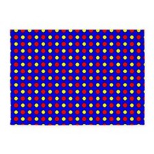 Red and Yellow Polka Dots 5'x7'Area Rug