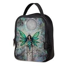 Little Green Fae Fairy Art Neoprene Lunch Bag