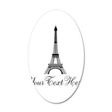 Personalizable Eiffel Tower Wall Decal
