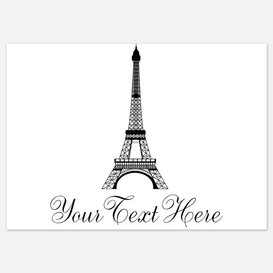 Personalizable Eiffel Tower Invitations