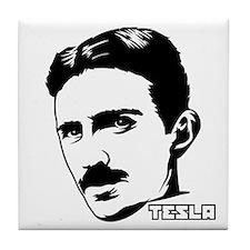 Funny Tesla coil Tile Coaster