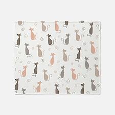 Stylish Cats Throw Blanket