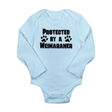 Protected By A Weimaraner Body Suit