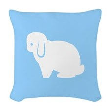 Mini Lop Bunny Throw Pillow Woven Throw Pillow