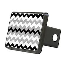 Black ,Gray and White Stripe Hitch Cover