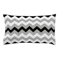 Black ,Gray and White Stripe Pillow Case
