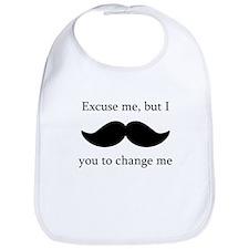 I Mustache You To Change My Diaper Bib