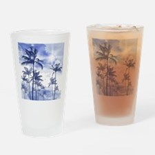 Palm Trees Drinking Glass