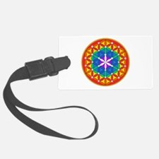 Flower of Life Chakra Sparkle Luggage Tag