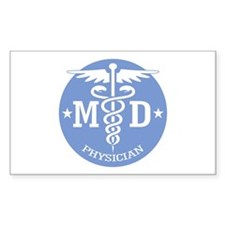 Caduceus MD (rd) Decal