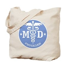 Caduceus MD (rd) Tote Bag