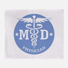 Caduceus MD (rd) Throw Blanket