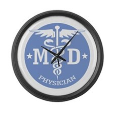 Caduceus MD (rd) Large Wall Clock
