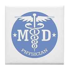 Caduceus MD (rd) Tile Coaster